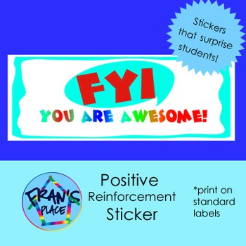 Printable Inspiration Sticker!  Print on Standard Labels