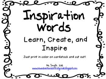 Inspiration Words