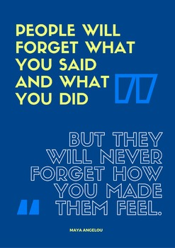 Inspirational Anti-Bullying Quotes Poster