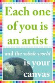 Inspirational Art Room Poster