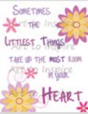 "Inspirational Art Wall Decor Art Posters--Elementary ""Littlest Things"""
