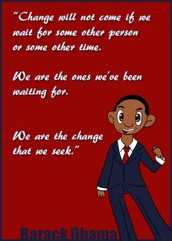 Inspirational Barack Obama Classroom Poster