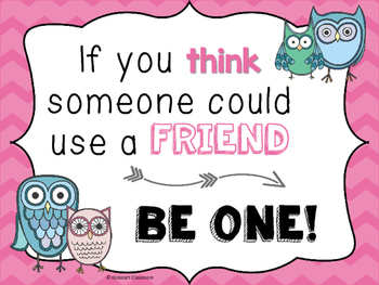 Inspirational Be a Friend Classroom Poster