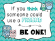 Inspirational Be a Friend Classroom Poster
