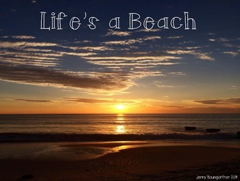 Inspirational Beach Posters For Students and Teachers