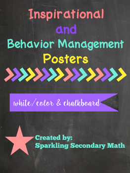 Inspirational + Behavioral Management Classroom Posters