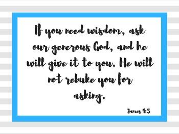 Inspirational Bible Verse Posters