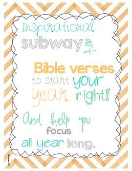 Inspirational Bible Verse Subway Art posters