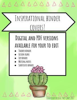 Inspirational Binder Covers!