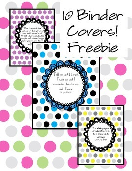 Inspirational Binder Covers/Mini-Posters
