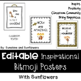 Inspirational Bitmoji Posters with Sunflowers