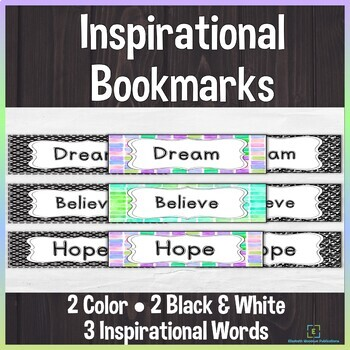 Inspirational Bookmarks- Back to School
