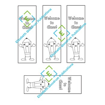 Back to School Welcome Bookmarks