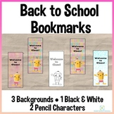 Back to School Welcome Bookmarks Pencil Themed