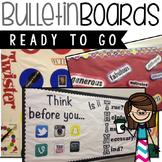 Bulletin Boards editable for Counselors or Teachers