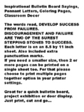 Inspirational Bulletin Board Sayings, DEVELOP SUCCESS  FROM FAILURES...
