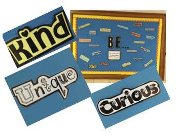 "Inspirational Bulletin Board: School Counseling ""BE"" Board"