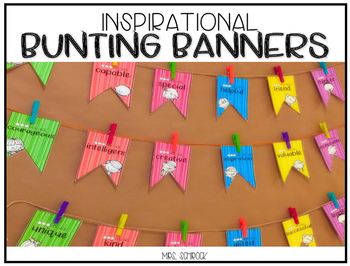 Inspirational Bunting Banner