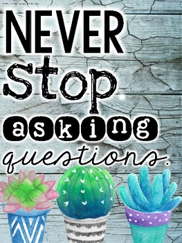Inspirational Cactus and Succulent Themed Posters (Includes Eleven Posters)
