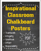 Inspirational Chalkboard Classroom Posters