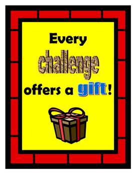 Inspirational Challenge Poster-Red, Yellow