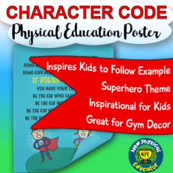 Inspirational Character Code Health and Physical Education Poster