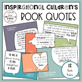 Inspirational Children's Book Quote Posters (12 Color Posters)