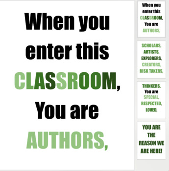 Inspirational Classroom Door Greeting