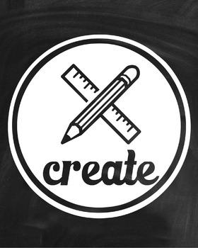 Inspirational Classroom Poster {Create}