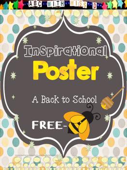 Inspirational Classroom Poster Freebie!