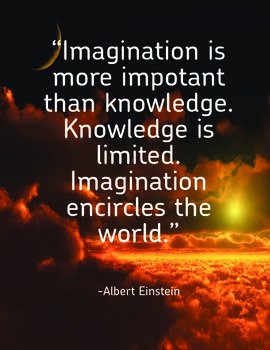 Inspirational Classroom Poster: Imagination...