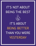 """Inspirational Classroom Poster: It's Not About Being The Best... (8.5"""" x 11"""")"""