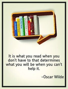 Inspirational Classroom Poster: Oscar Wilde Quote!