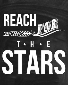 Inspirational Classroom Poster {Reach for the Stars}