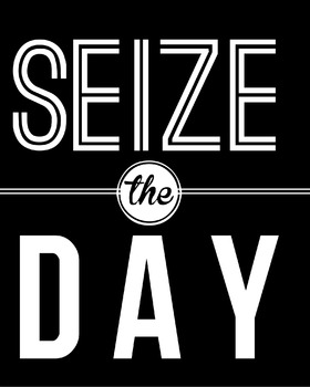 Inspirational Classroom Poster {Seize the Day}