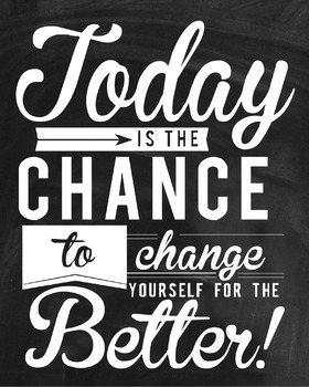 Inspirational Classroom Poster {Today is the Chance}