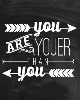 Inspirational Classroom Poster {You Are Youer Than You}