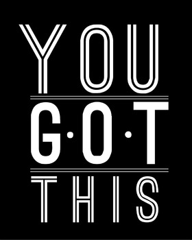 Inspirational Classroom Poster {You Got This}