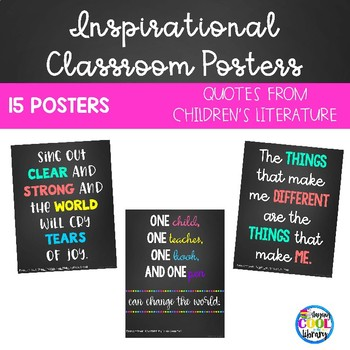 Inspirational Classroom Posters  {Chalkboard}