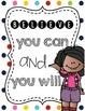 Inspirational Classroom Posters - Cheerful & Bright Stripes, Chevron, Polkadots