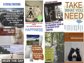 Inspirational Quotes - Classroom Posters (Set #1 of 2)