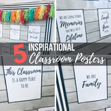 Inspirational Classroom Posters Set - Black & White