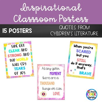 Inspirational Classroom Posters  {Watercolor/White Background}