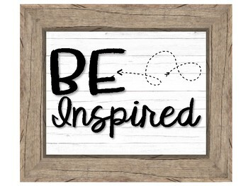 Inspirational Classroom Posters - With Wood Frames