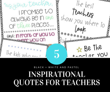 Inspirational Classroom Posters for Teachers
