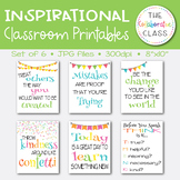 Inspirational Classroom Printables {6 total signs}