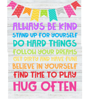 Inspirational Classroom Quote - Colorful Farmhouse