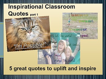 Inspirational Classroom Quote Posters