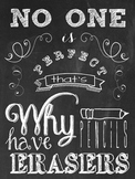 Inspirational Classroom Quote in Chalkboard Theme 12x16