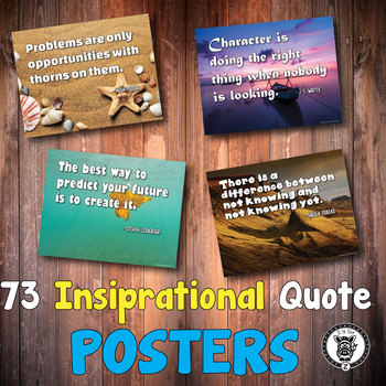 Inspirational Classroom Quotes Posters
